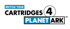 recycle your cartridges 4 planet ark logo